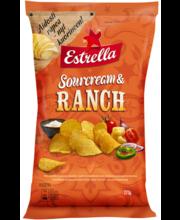 Estrella Kartulikrõpsud Ranch-Hapukoore 275 g