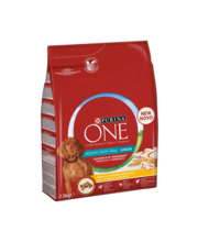 Purina One Medium/Maxi Junior täissööt koertele kanaliha ja riisiga, 2,5kg