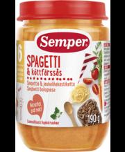 Semper spagetid hakklihakastmega 190 g, alates 6-elukuust