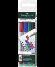 Marker Faber Castelli 0,6mm 4 tk veekindel