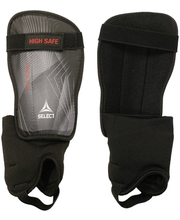 Säärekaitsmed High Safe shinguard, hall/must XS