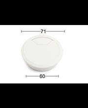 Habo kaabliava kate, 60 mm, valge