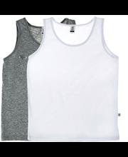 Tüdrukute alussärk 2 tk 140 cm, hall/valge