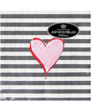 Salvrätik 25cm Hearts and Stribes 20 tk