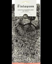 Padjakate Kettu 50 x 50 cm, must/valge, 100% puuvill