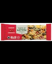 Pähkli-seemnebatoon jõhvikatega 40 g, gluteenivaba, orgaaniline