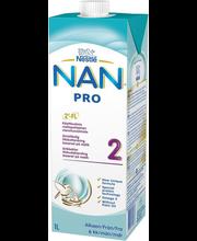 Nan Pro 2 jätkupiimajook 1000 ml, alates 6-elukuust