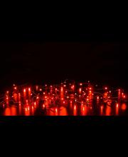 Valguskett Rudolf punane 80LED IP44, välis