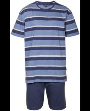 Meeste lühike pidžaama L, tumesinine/sinine/hall