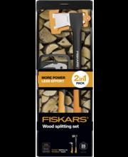 Fiskars X21 lõhkumiskirves ja pootshaak