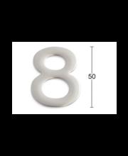 Habo uksenumber 8, 50 mm, roostevaba teras