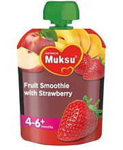 Milupa puuviljasmuuti maasikatega 80 g, alates 4-6 elukuust