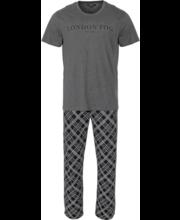 Meeste pidžaama M, hall/must