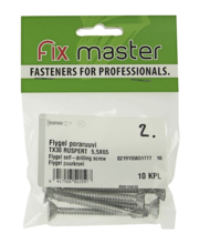 Fixmaster Flygel Ruspert puurkruvi TX30, 5,5 x 65, 10 tk