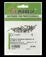 Fixmaster universaalkruvi, ümarpea, A2 TX10, 3,0 x 16 mm, 20 tk