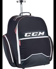 """CCM EBP390 18"""" ratastega jäähokivarustuse kott, must"""
