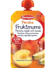 Semper virsiku-õuna-banaani-puuviljapüree 110 g, alates 6-elu...