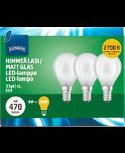 LED-lamp 4W E14 2700K 470LM, 3 tk