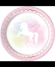 Papptaldrik believe in unicorns 23cm 8tk