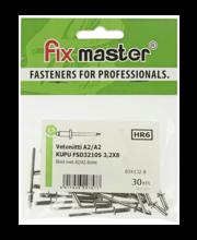 Fixmaster neet, 3,2 x 8 mm, 30 tk, roostevaba teras