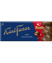Karl Fazer Dumle piimašokolaad toffeetükkidega 200 g