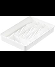 Söögiriistade karp 33x22x4 cm, valge