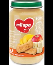 Milupa banaani-küpsisepuding 190 g, alates 6-elukuust