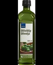 Raf.õlist ja neitsioliiviõlist koosnev oliiviõli 500ML