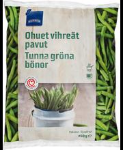 Õhukesed rohelised oad, 450 g