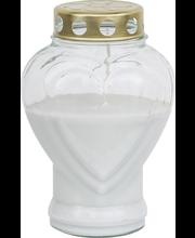 Kalmuküünal klaasis Süda 80h, valge