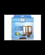 RK akna- ja uksetihend, D-profiil, EPDM, 25 m, pruun