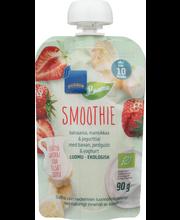 Rainbow banaani-maasikasmuuti jogurtiga 90 g, alates 10-elukuust