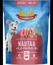 Hau-Hau Champion täissööt koertele veiseliha ja kaeraga, 1,5 kg