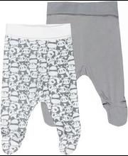 Beebi püksid 2-paari, valge/hall 62