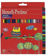 Värvipliiats Memoris precious 24 tk