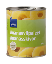 Ananassiviilud omas mahlas 820/490 g