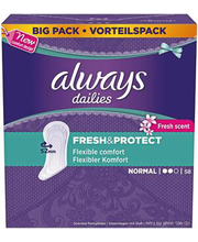 Always Liner Normal Fresh pesukaitse 58 tk
