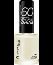 Küünelakk 60 Seconds Super Shine 730 Silver Bullet