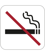 Habo suitsetamise keelumärk, 80 x 80 mm