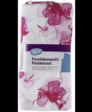 Voodipesukomplekt Fleur 150x210x/55x65cm punane, 100% puuvill