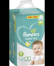 Pampers Baby Dry 4, 9-14kg, 124 tk