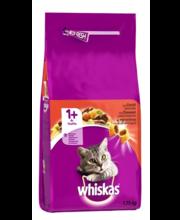 Whiskas 1+ täissööt kassidele loomalihaga, 1,75 kg