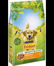 Friskies Balance täissööt koertele kana ja köögiviljadega, 4 kg