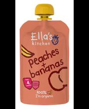 Ella´s Kitchen virsiku-banaanipüree 120 g, öko, alates 4-eluk...