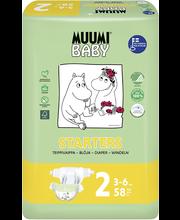 Muumi Baby teipmähkmed Starters 2, 3-6 kg, 58 tk