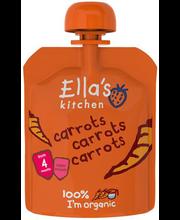 Ella´s Kitchen porgandipüree 70 g, öko, alates 4-elukuust