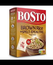 Bosto pruun riis, spelta ja kinoa 4 x 75 g