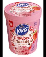Maasikajäätis stracciatella, 450ml