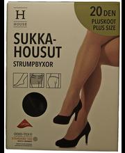 Naiste sukkpüksid Plus size Xceptionelle 20 den must, 52-56