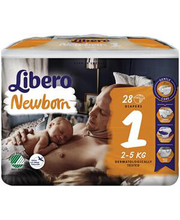 Libero teipmähkmed Newborn 1, 2-5 kg, 28 tk